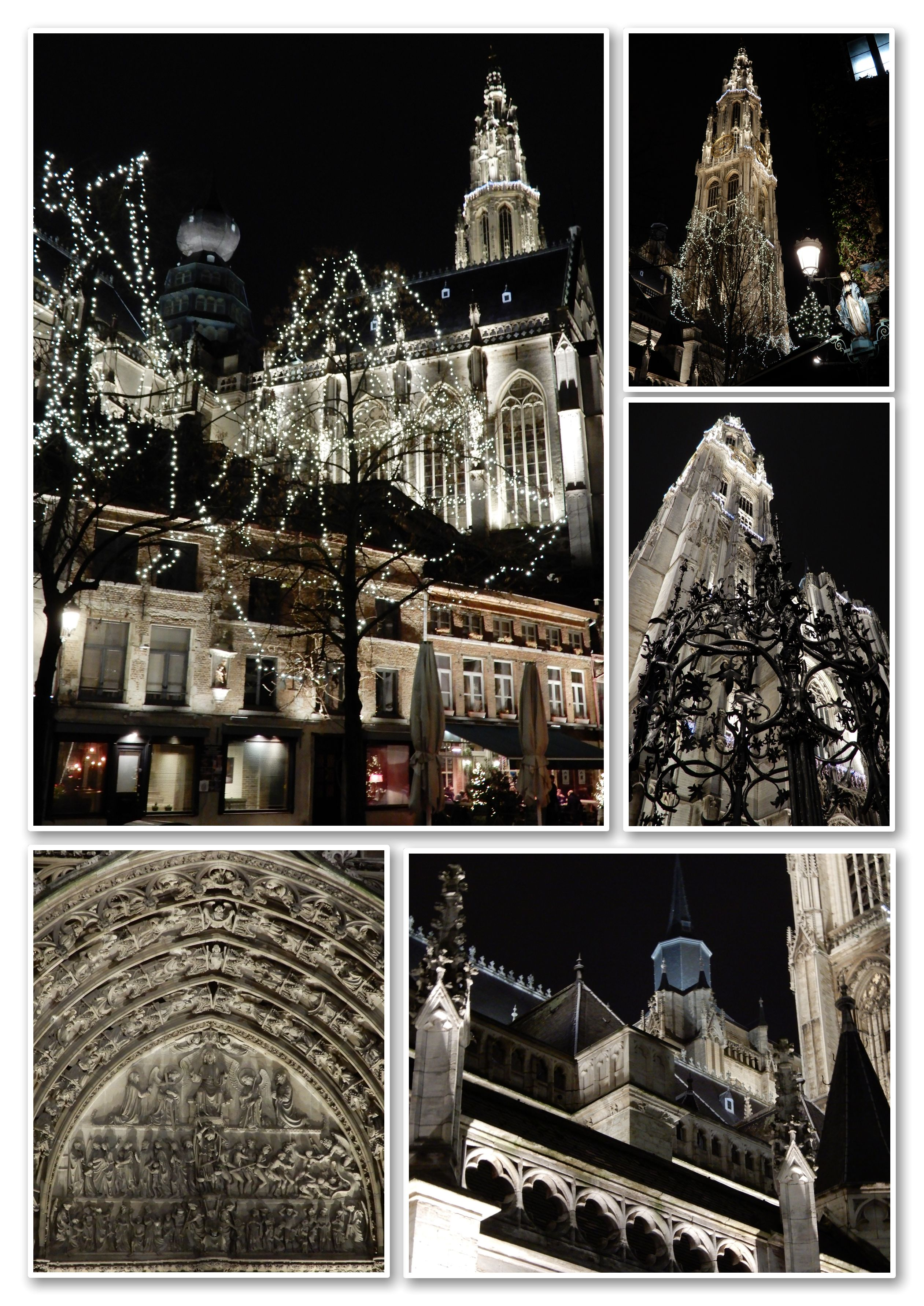 LA CATHEDRALE D'ANVERS BY NIGHT